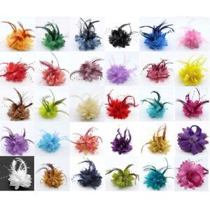 28 colors Bridal feather wrist flower brooch Hair clip Corsage  headdress weddin