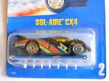 PAIR-RARE~ SOL-AIRE CX4 ~ BLUE CARD #2 -HOT WHEELS-ORIGINAL-VHTF-COLLECTORS LTD.