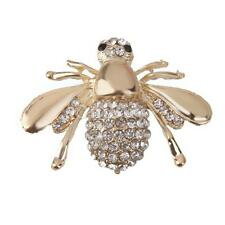 for Women Gold Animal Lover Decorations Cute Rhinestone Honey Bee Brooch Pin