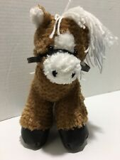 "First & Main Brown Horse Dallas plush 10"" NEW w Tag  stuffed #4375"