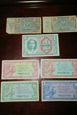 Vintage Variety Of Military Payment Certificates From Circa 1960'S