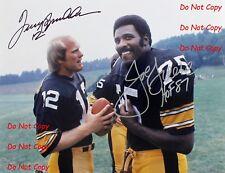 Reprint Terry Bradshaw Joe Greene Autographed Pittsburgh Steelers 8X10 PHOTO