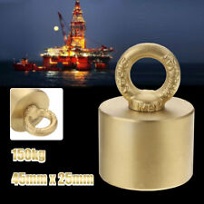 150kg Neodymium Recovery Metal Detector Magnet Treasure Hunting Fishing 45x25mm
