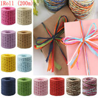 200M Paper Cord Craft Twine Rope String Craft DIY Scrapbook Gift Box Packing