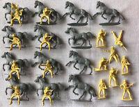 Vintage Airfix 51469 Plastic 29 Figures 1:32 American West Series 7th Cavalry