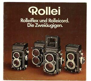 Rollei Prospekt Rolleicord Vb Rolleiflex T / 2,8F / 3,5F / TELE Broschüre (Y2758