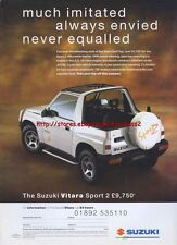 Suzuki Vitara Sport 2 Car 1995 Magazine Advert #2983