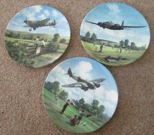 More details for raf heroes of the sky set of 3 plates spitfire wellington blenheim royal doulton