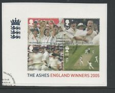 Gb 2005 England Ashes Winners Minisheet fine used set stamps on piece