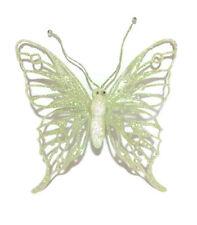 Gisela Graham Acrilico Verde Glitter Farfalla su un regalo di Natale Decorazione Clip Kid