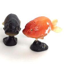 Choco Egg Mini Figure Fish Ranchu Goldfish Red & Black 2pcs Kaiyodo Furuta Japan