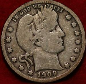 1909-S San Francisco Mint Silver Barber Quarter