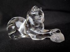 Lenox Full Lead Fine Crystal Cat Playing With Yarn - Nice Size