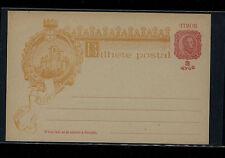 Timor  postal  card  2 av   Carlos  unused       MS1220