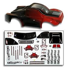 Redcat Racing BS804-002R 1/8 Short Course Truck Body Red and Black