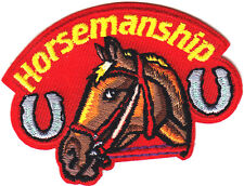"""""""HORSEMANSHIP"""" w/Horse- Iron On Embroidered Applique Patch/Western/Southwest"""