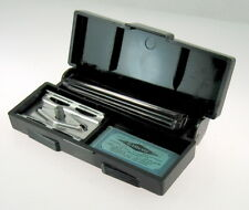 1940s Gillette Black Tech 3-Piece Safety Razor Set With Gillette Blue Blade