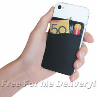SMART WALLET - Black- Sticks to Phone Holds Cards Cash Keys etc. *FREE DELIVERY*