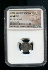 Mexico SPANISH COLONY Carlos III Silver 1772-83 1/2 Real NGC Shipwreck DC149