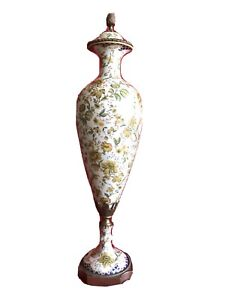 Porzellan Wong Lee 1895 Vase 67 cm hoch WL Jugendstil Prunk