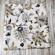 Threshold Palampore Shower Curtain Tan Cream Gold Black Grey Floral Fabric CLEAN