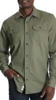 NWT MENS Big & Tall  Size 3X WRANGLER Stretch Twill Shirt NEW FLEX FOR COMFORT