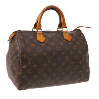 LOUIS VUITTON SPEEDY 30 HAND BAG PURSE MONOGRAM CANVAS M41526 VI883 A52560