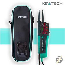 Kewtech KT1780 LED 2 Pole Voltage & Continuity Tester & KEWC1 Carry Case