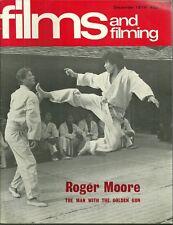 RARE - FILMS AND FILMING Magazine - Dec 1974 - Roger Moore 007 - Orson Welles
