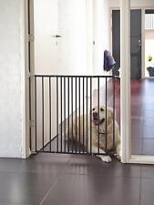Scandinavian Dog Barrier Gate Outdoor Noir Home Pet mur large extensible en acier