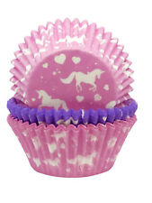 Girls Unicorn Party Cupcake Bun Cases Pink & Purple 75 Pack