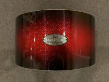 Pearl 8x14 Free Floating Snare Drum Shell in Scarlett Sparkle Burst