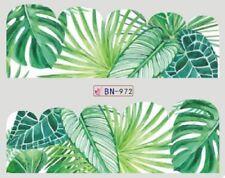 Nail Art Decals Transfers Stickers Green Jungle Ferns (BN972)