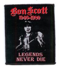 BON SCOTT Aufnäher LEGENDS NEVER DIE ♫ Tribute Patch ♫ Rock N Roll Singer AC/DC