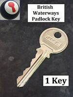 🔑🔑🔑British Waterways Padlock BWB Key CRT Canal River Trust Key P&P Inc🔑🔑🔑