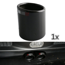 "3.5"" Car Carbon Fiber Exhaust Muffler Pipe Cover Tip Decoration Case w/ Logo 1x"