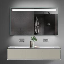 Bad Spiegel Badspiegel Lichtspiegel mit Kalt/Warmlicht und Steckdose - 120x70cm