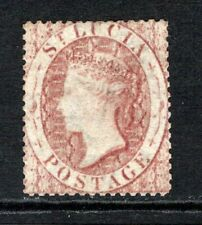 More details for st. lucia qv 1860 (wmk small star) 1d. rose red sg1 lm/mint (high cat)