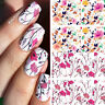 Nail Art Water Decals Transfers Stickers Wraps Pastel Spring Flowers Floral
