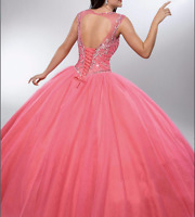 Beaded Princess Evening Prom Party Quinceanera Pageant Cocktail dress Ball Gown