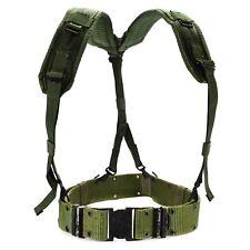 Original U.S army webbing system web suspenders belt LC-2 military pistol green