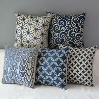 CW_ Geometric Linen Pillow Case Waist Throw Cushion Cover Home Sofa Decor Reliab