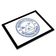 A3 Glass Frame - Bermuda Triangle Travel Art Gift #9272