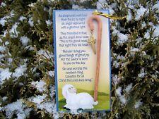 Shepherds Staff Christmas Ornament w/ star on card sending message of hope