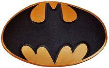 """DC Comics BATMAN Large Bat Symbol Logo 9 1/2"""" Wide PREMIUM QUALITY Jacket PATCH"""