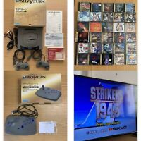 Sega Saturn console boxed bundle+ Accessories+ 30 games set NTSC-J SS from Japan