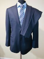 Superb Made To Measure J Hilburn Navy Pinstripe Tailored Fit Suit Sz 40 34X29