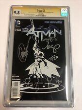 Batman (2012) # 12 (CGC SS 9.8) 1:100   Signed Snyder Capullo Cloonan Plascencia