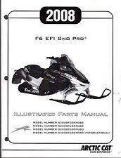 2008 ARCTIC CAT SNOWMOBILE F6 EFI SNO PRO PARTS MANUAL P/N 2257-979  (468)