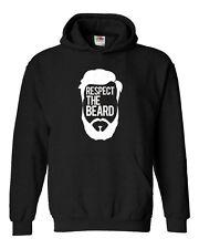 Felpa RESPECT THE BEARD -  Idea regalo - 100% COTONE